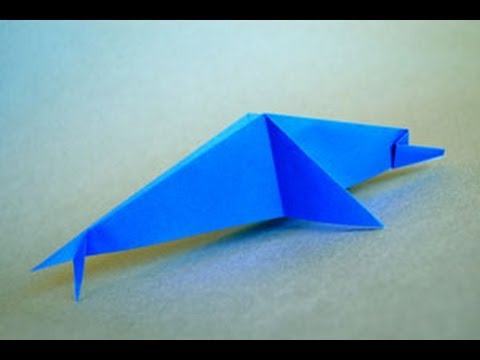 Origami Dolphin Instructions: www.Origami-Fun.com - YouTube - photo#49
