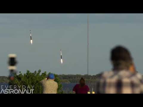 Двойная посадка  первых ступеней Falcon Heavy