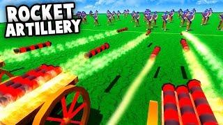 AMAZING Rocket Artillery!  ROCKET BARAGE vs FORTS! (Wooden Battles New Update)
