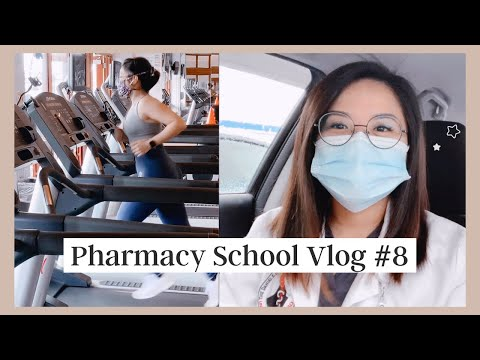 Vlog #8 | Productive day in the life of a pharmacy student working in clinic, cooking, studying, gym