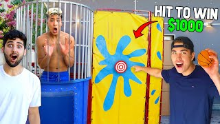 LAST TO GET DUNKED WINS $1000! (CHALLENGE)
