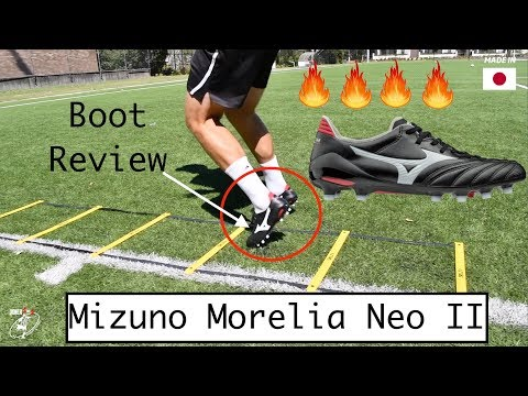 low priced a83c1 57dfb BOOT REVIEW - Mizuno Morelia NEO II | 1st touch | passing ...
