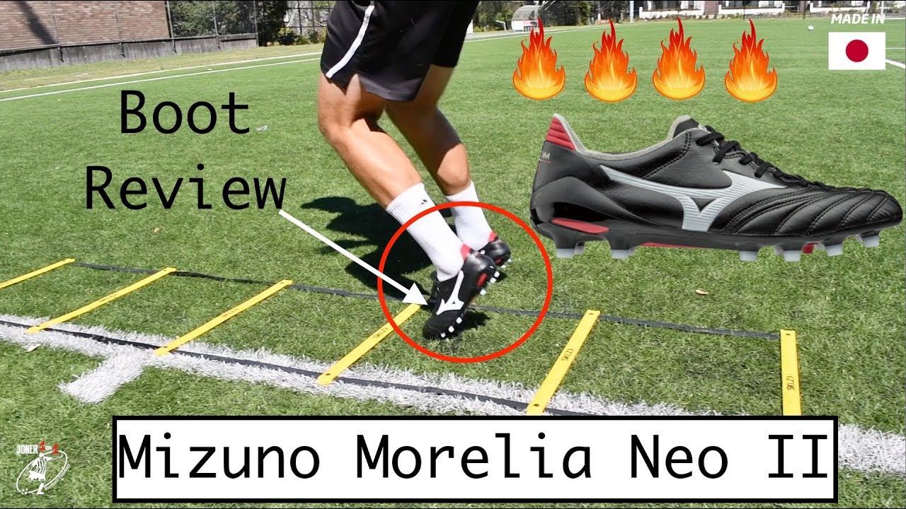 pretty nice c6d15 4c6ca BOOT REVIEW - Mizuno Morelia NEO II | 1st touch | passing | FINISHING |  Joner 1on1