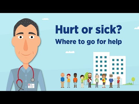 Where to go if you are hurt or sick