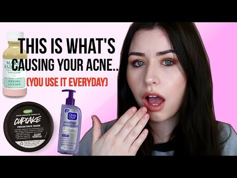 YOUR SKINCARE PRODUCTS ARE CAUSING YOUR ACNE!