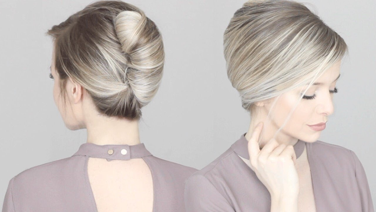 How To French Twist Updo Hair Tutorial Youtube