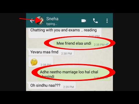 cute heart touching romantic Telugu whatsapp chatting love story