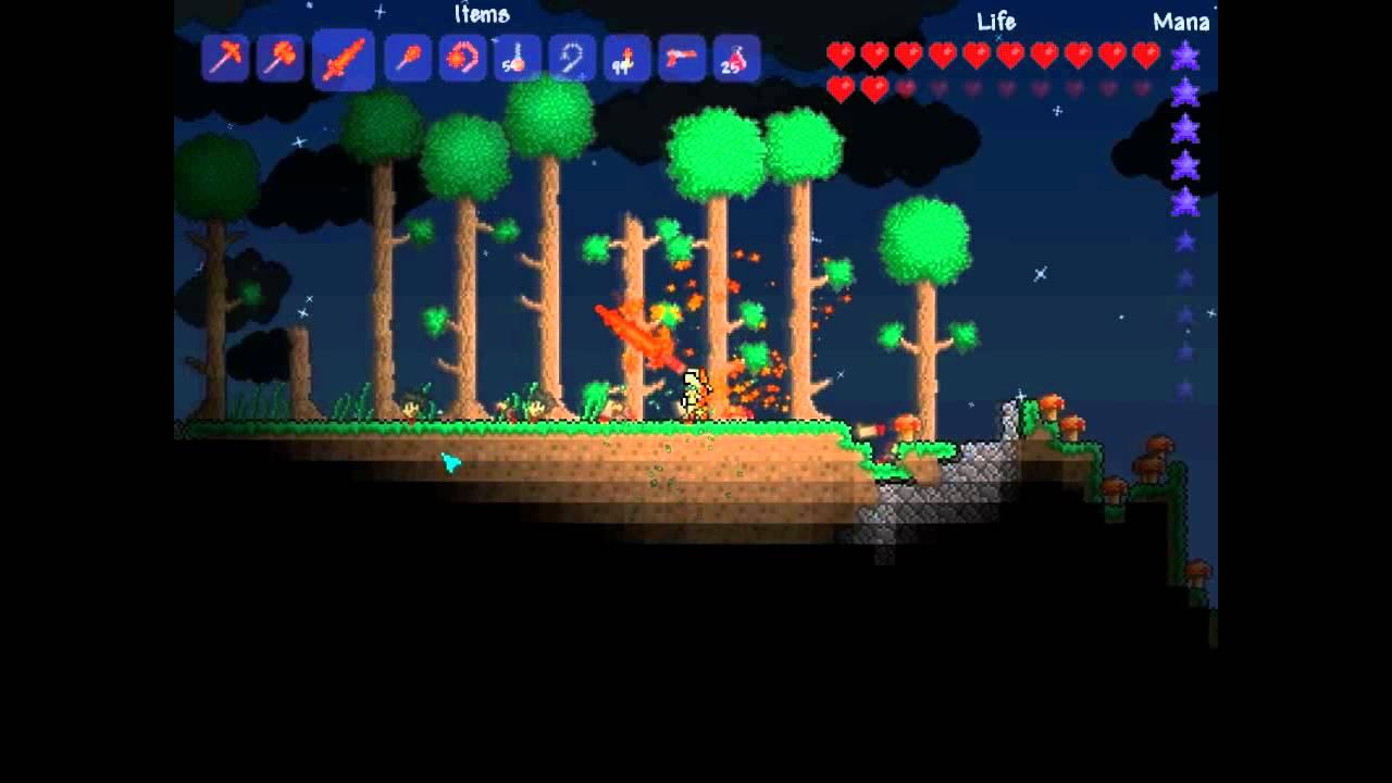 Terraria - Best Tools in the Game - Molten Pickaxe Hamaxe Sunfury Mace  Fiery Greatsword Zapinator!