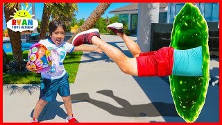 Ryan Magic Toy Hunt Adventure For Ryan's World Giant Surprise Eggs!!!