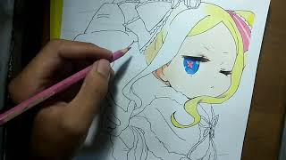Speed Drawing Beatrice from re:zero