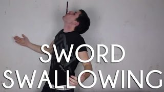 How to do sword swallowing - Magic tricks