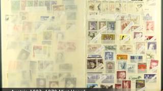 Austrian Stamps - 1893-1970 mint hoard neatly presented in a stock book