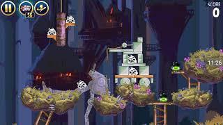 Прохождение Angry Birds Star Wars #9 [Луна Эндора *1*2] (бревна в помощь!)