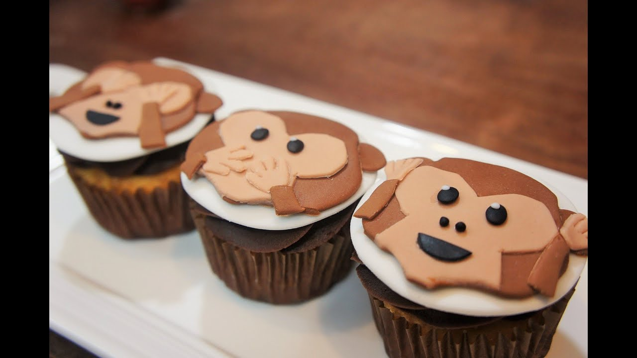 How To Make A Monkey Cupcake Cake
