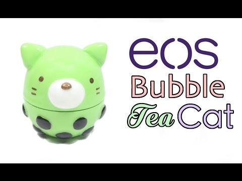 DIY EOS Lip Balm: Bubble Tea Cat