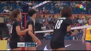 AVC Asian Women's Volleyball Championship 2015 thailand vs kazakhstan set2