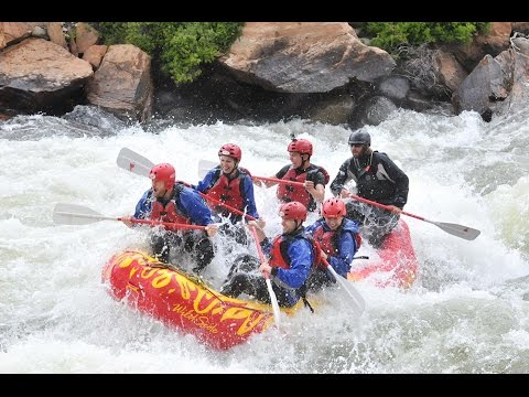"Rafting ""The Numbers"" on Arkansas River, Colorado"