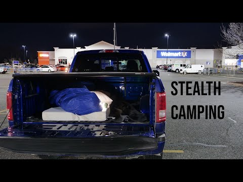 Stealth Camping Under A Tonneau Cover