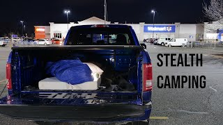 Stealth Camping Under a Toฑneau Cover