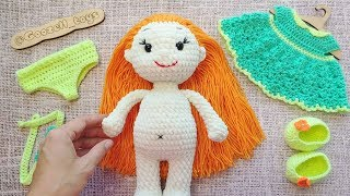 Мастер-класс по вязанию крючком «Вязаная кукла»: обзор игрушки амигуруми