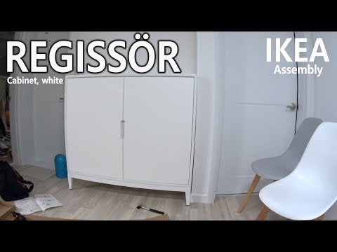 How to Assemble - IKEA REGISSÖR 레기쇠르 수납장, 화이트 조립 - 3배속영상