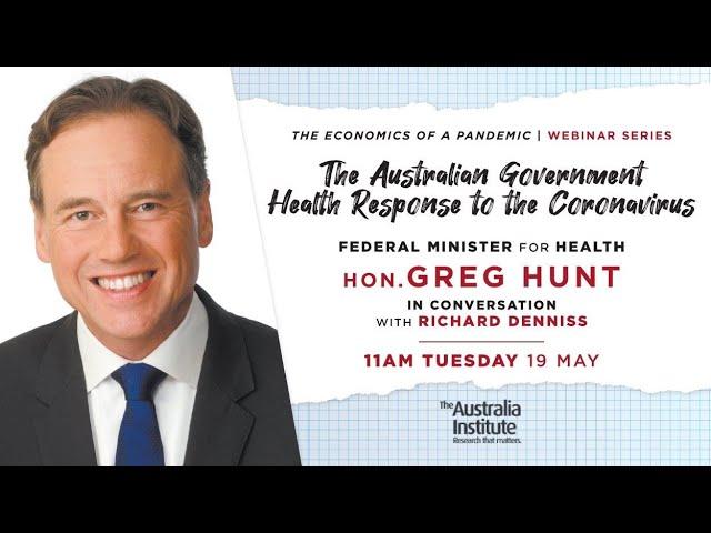 The Australian Government Health Response | Health Minister Greg Hunt