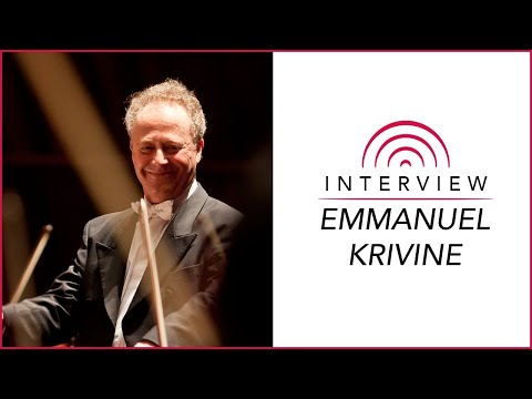 Conductor Emmanuel Krivine Interview