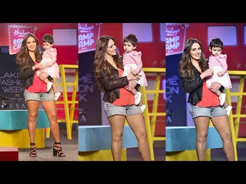 Esha Deol's Heart Melting Ramp Walk with CUTE Daughter Radhya Takhtani @LakmeFashionWeek2019