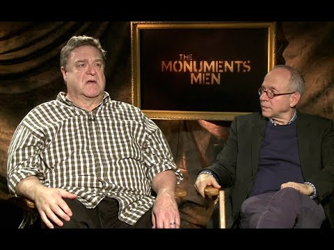John Goodman and Bob Balaban   The Monuments Men HD JoBlo.com Exclusive