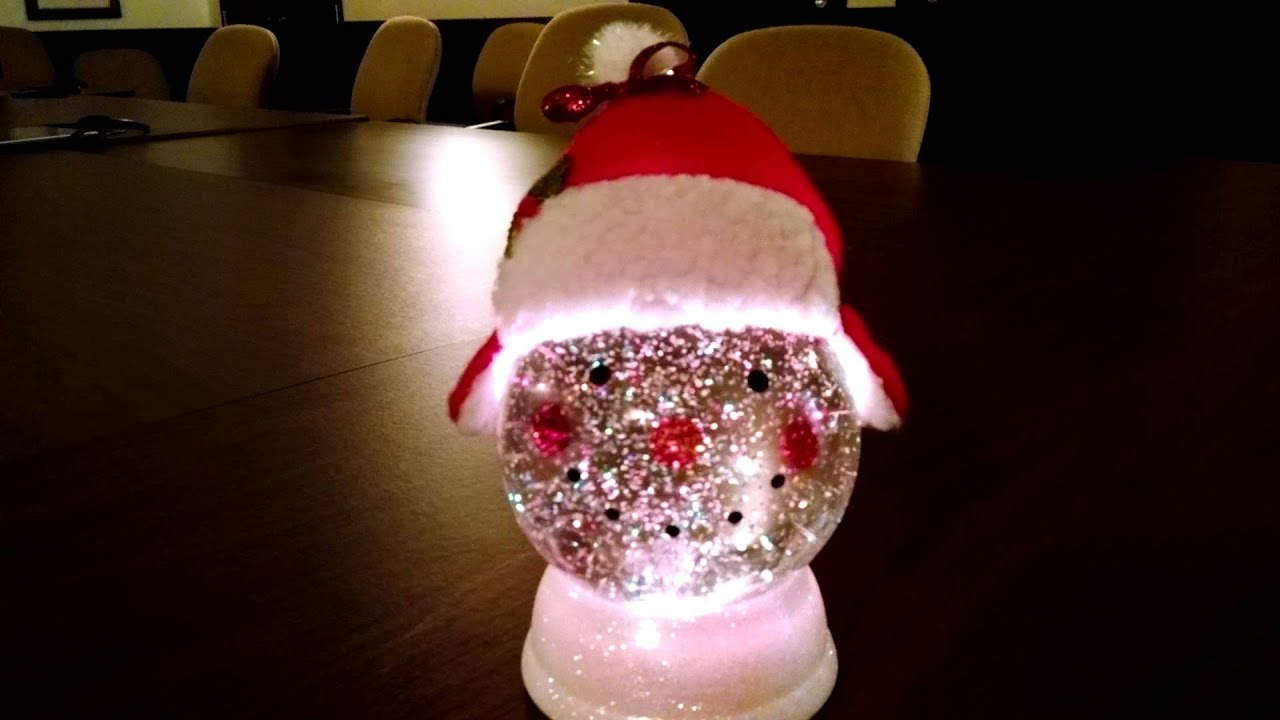 changing lighted snowman snow globe youtube