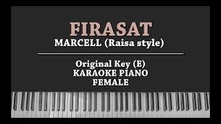 Firasat (FEMALE KEY KARAOKE PIANO COVER) Marcell (In Raisa Style)