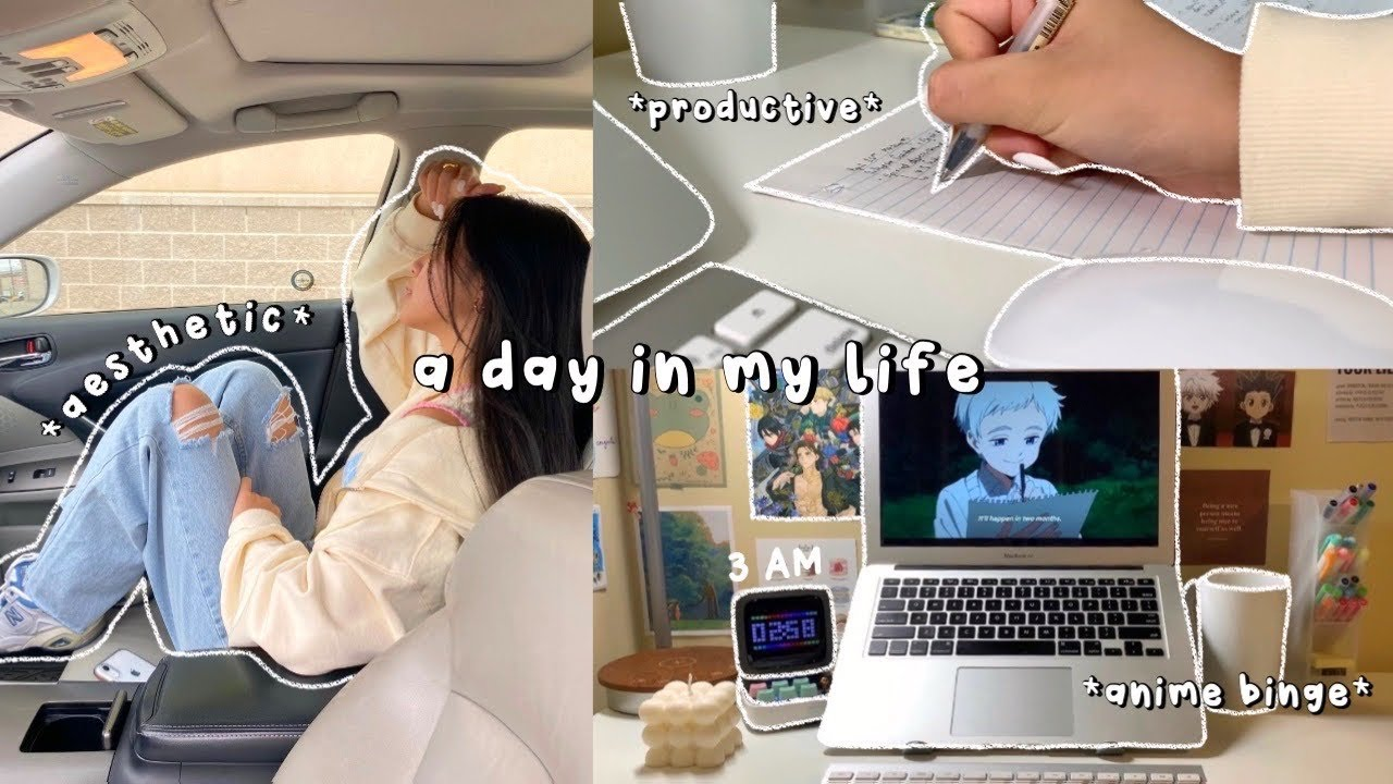 DAILY VLOG | busy day in my life as a college student | work/research tips, cooking & binging anime🌿