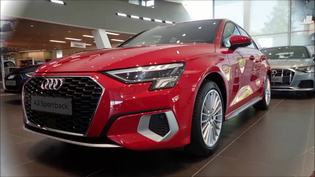 New Audi A3 2021 Sportback in Tango Red - YouTube