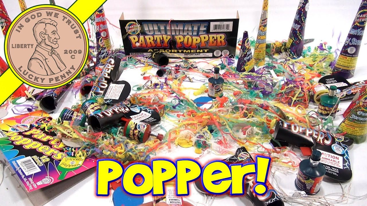 Phantom Fireworks Ultimate Party Popper Mega Pack Assortment!