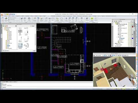ArCADia ARCHITECTURE Inserting interior furnishings