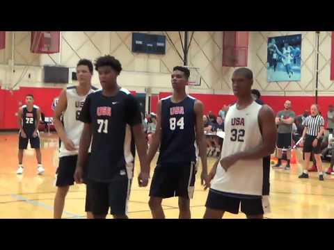 Class of 2020 power forward Xavier Foster Highlights (USA Basketball mini camp)
