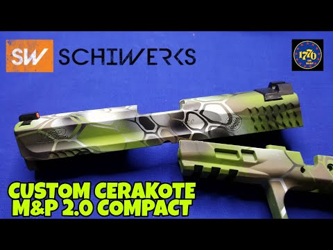 Smith & Wesson M&P 2.0 Compact: Custom Cerakote Kryptek Altitude by Schiwerks