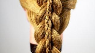 видео Схема плетения двойной косы