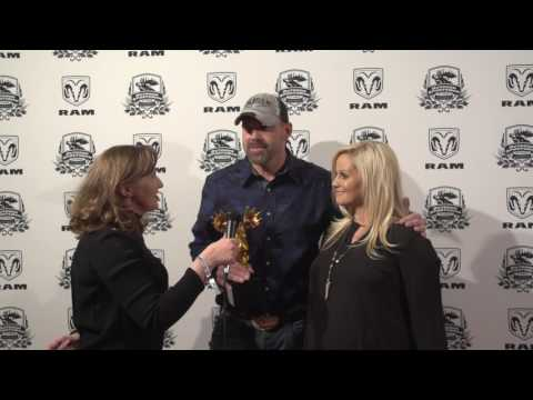 Lee & Tiffany Lakosky at the 2017 Outdoor Sportsman Awards with Women's Outdoor News & Julie Golob