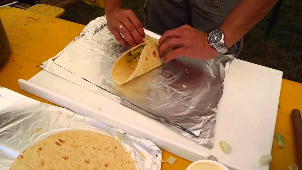 Wie Falte Ich Einen Burrito / Wrap