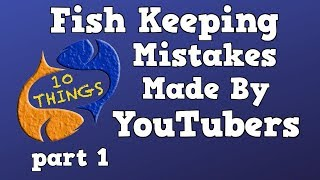 The Biggest Fish Keeping Mistakes Made By YouTubers! Part 1! Special 10 Things Episode!
