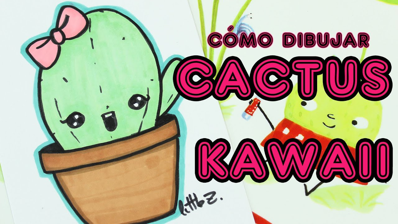 how to draw a cute cactus