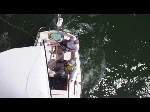 Sailing With Mast Mounted GoPro Camera