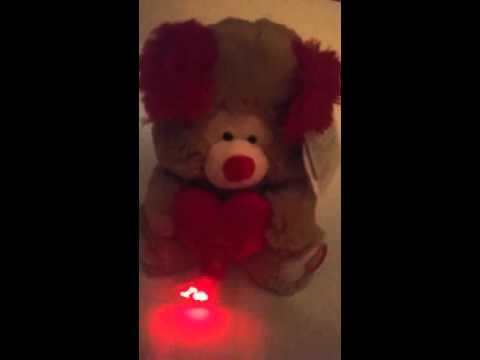 Cute singing LED Valentines plush