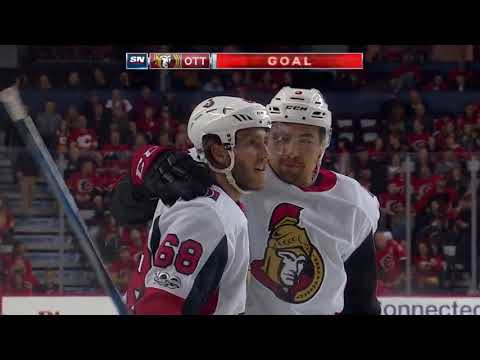 Ottawa Senators at the Calgary Flames