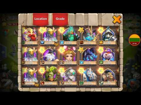 MOST AMAZING HERO ROLL 27k Gems AWESOME Rolling Heroes Talents Castle Clash Papuasas