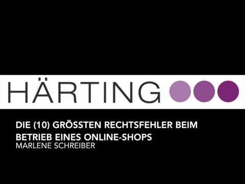 Die 10 größten Rechtsfehler beim Betrieb eines Online Shops - Webinar Aufzeichnung