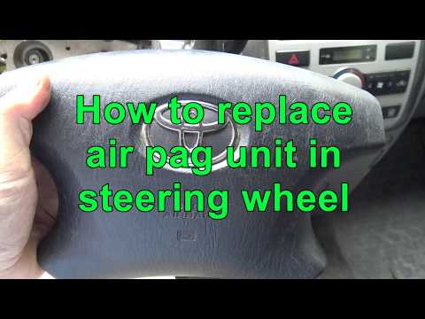 How to replace airbag unit in car steering wheel. Example Toyota car.