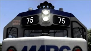 Maryland MARC Commuter trains in TS2017