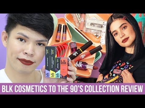 GRABE HA!!! MY HONEST BLK COSMETICS TO THE 90'S COLLECTION REVIEW | Kenny Manalad